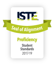 ISTE Seal of Alignment for Proficiency in student standards, 2017-19